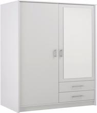 Parisot Infinity doble garderobeskap med speil i hvitt