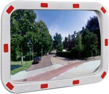vidaXL Konvex trafikspegel PC-Plast 40 x 60 cm med reflexer