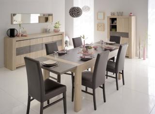 Spisegruppe Chris med bordforlenger + 4 stoler!