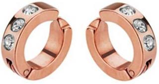 Örhängen Clip on Stainless steel Rose Gold Tripple CZ Hoop | MisterBling