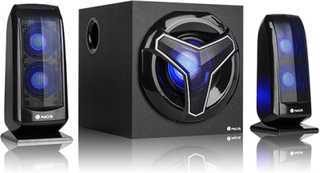 Gaming-højttalere 2.1 NGS GSX-210 Bluetooth 80W Sort