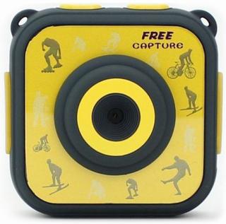 Sportskamera med tilbehør Denver Electronics ACT-1303 1280 x 720 HD Gul