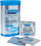 Durex - Invisible Extra Tunna Kondomer 12 st