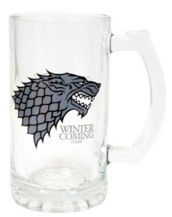 Game of Thrones Glass Stark