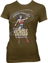 Wonder Woman - Strongest Woman Alive Girly Tee, Girly T-Shirt