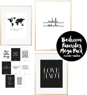 Bedroom Favorites Mega Pack 4 Prints + 8 Wallies