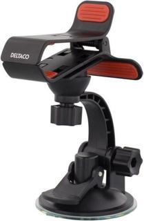 DELTACO Hållare för smartphone i bilen, klämfäste med sugpropp ARM-220
