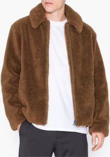 Topman Short Teddy Faux Fur Jacket Jakker & frakker Rust