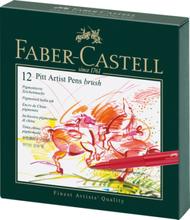 Faber Castell Tekenstift Pitt Artist Pen Brush 12-delig Studiobox