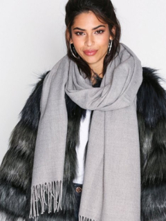NLY Accessories Solid Scarf Halsdukar & Scarves Grå