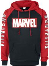 Marvel - Logos -Hettegenser - svart, rød