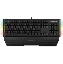 Gaming-tastatur KEEP OUT F120PRO RGB Sort