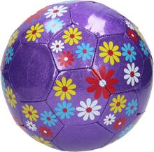 Lilla glimmer fodbold med blomster - Ø20 cm