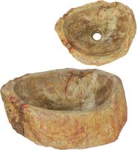 vidaXL håndvask 45 x 35 x 15 cm fossilsten cremefarvet