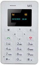 AEKU M5 Mini Ultratunn Mobiltelefon Vit