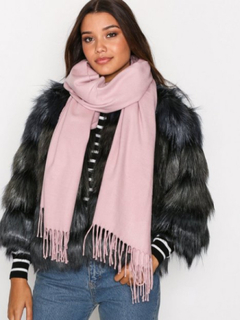 NLY Accessories Solid Scarf Halsdukar & Scarves Dusty Pink