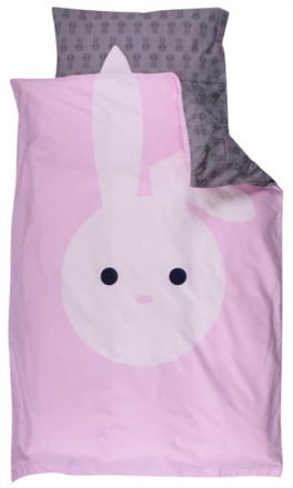 Økologisk sengetøj - Freds World - 140x200 cm - Kanin - Home-tex