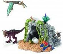 Dinosaurierset mit Höhle