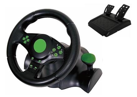 Kabalo Gaming vibrasjon Racing ratt (23cm) og pedaler PS4 PS3 PC USB
