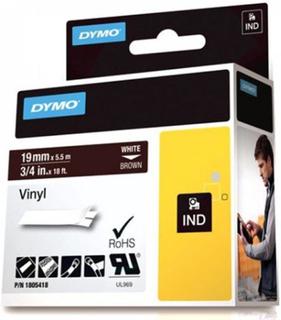DYMO Rhino Professional, mærkbar permanent vinyltape, 19mm, hvid teks