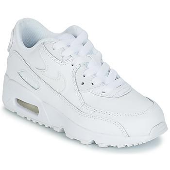 Nike Sneakers AIR MAX 90 LEATHER PRE-SCHOOL Nike - Spartoo