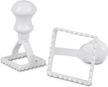 Ravioliutstikker firkantet 6,5 x 6,5 cm plast