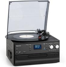 Oakland DAB retro-stereoanläggning DAB+/FM BT-funktion vinyl CD kassett