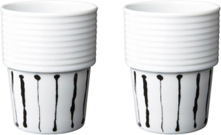 Filippa K Kaffemugg 31 cl Ink Stripe 2 st