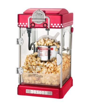 Popcornmaskin Little Bambino 2-3 liter Röd