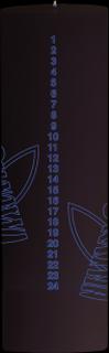 Stelton Tangle kalenderljus, ängel - vit/guld