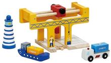 Houten trein - Container Overslag
