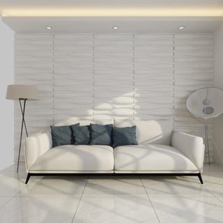 vidaXL Vægpanel 3D Bølge 0,625 m x 0,8 m 12 Paneler 6 m²