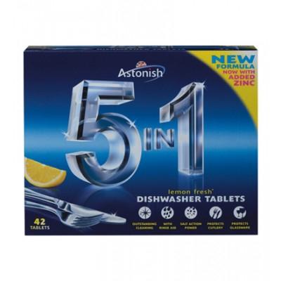 Astonish 5 in 1 Dishwasher Tablets Lemon 42 kpl