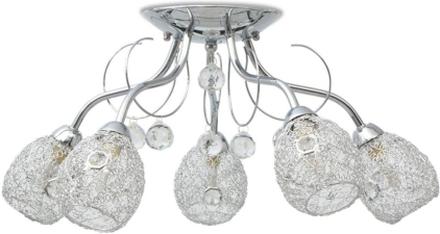 vidaXL Taklampa för 5 G9-glödlampor 200 W