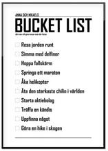 Personlig poster, Bucket list (50x70 cm)