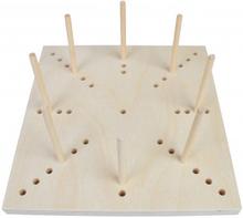 fromWOOD Blocking Board i Trä 41 hål 20x20x1,5cm