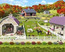 Walltastic Tapet Horse & Pony Stables