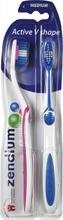 Zendium V-Shape Medium 2-pak Tandbørster 2 stk