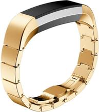 Solid Link Rustfritt Stål Sommerfugl Klokkereim For Fitbit Alta - Gull