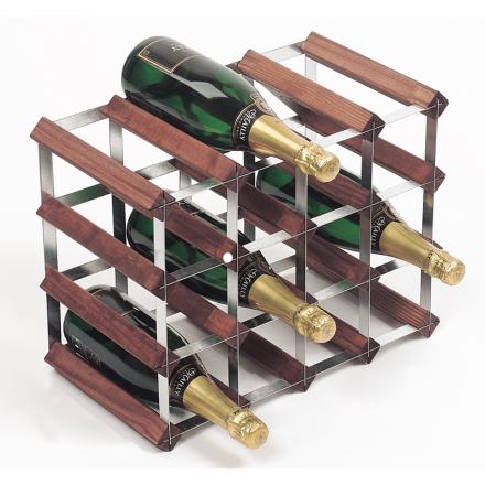 RTA Vinställ 16 flaskor brun furu