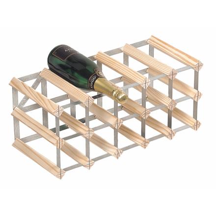 RTA Vinställ 15 flaskor natur furu