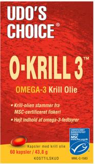Udos Choice O-Krill 3 500 Mg (60 kapsler)