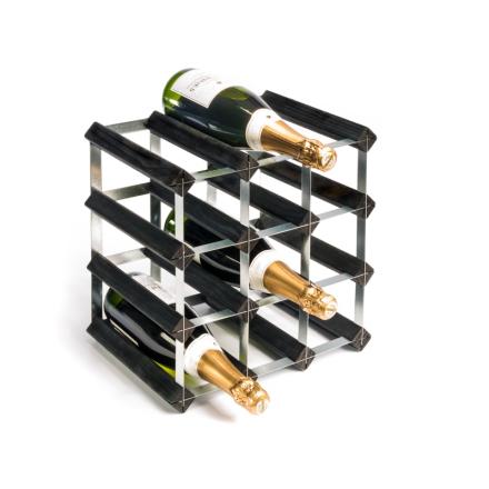 RTA Vinställ 12 flaskor svart furu