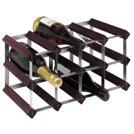 RTA Vinställ 12 flaskor brunbets