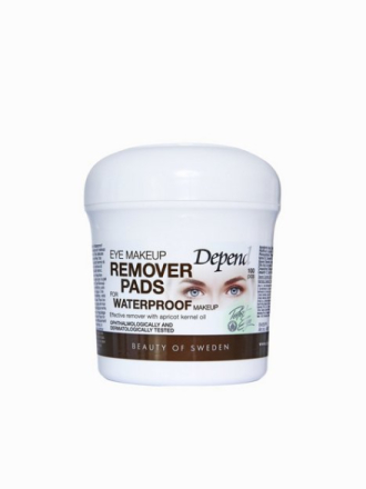 Depend Eye Make-Up Remover Pads Waterproof Transparent