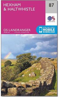 ORDNANCE SURVEY Landranger 87 Hexham & Haltwhistle karta med Digita...