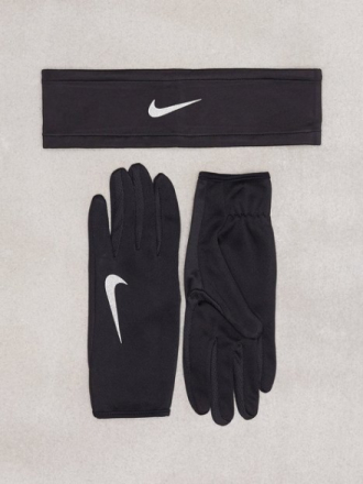 Nike Run Headband Glove Set