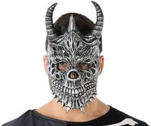 Mask Halloween Demon Skelett Grå (20 X 33 cm)