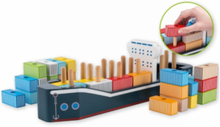 Houten Vormenstoof containerschip 34 delig