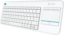 Logitech Wireless Touch Keyboard K400 Plus - Valkoinen (pohjoismaat)